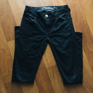 American Eagle Super Super Stretch Black Jeggings